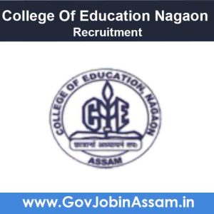College Of Education Nagaon Recruitment 2021