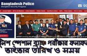 Police Special Branch Job Exam Result