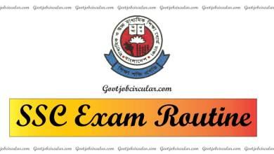 SSC Exam Routine