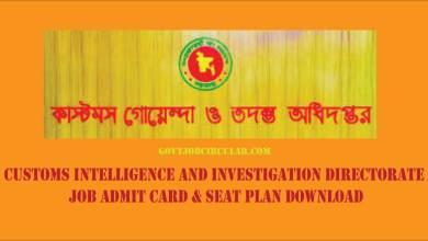 CIID Admit Card