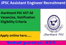 Photo of Jharkhand JPSC Assistant Engineer Recruitment