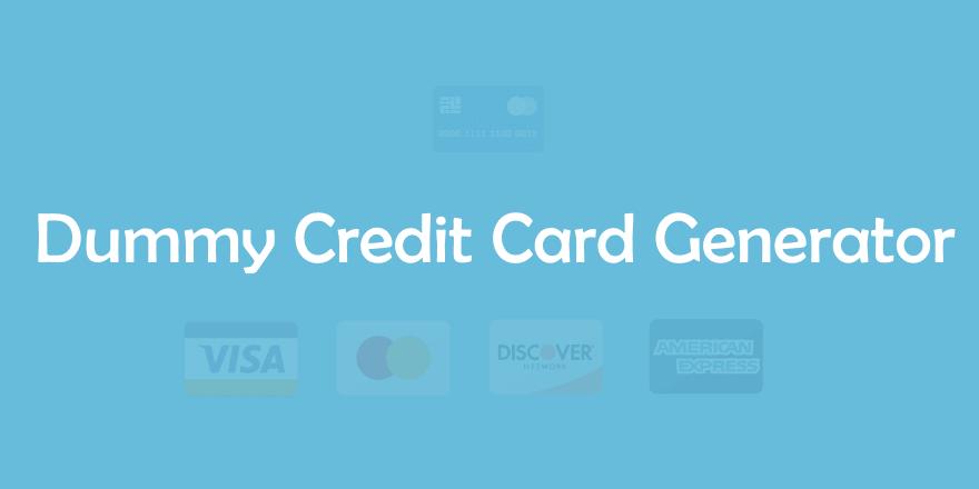 real working credit card generator