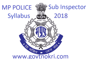 MP Police SI Syllabus 2018