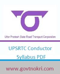 UPSRTC Conductor Syllabus 2018