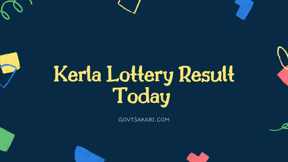 Kerala lottery today results