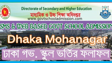 Dhaka Govt School Admission Result