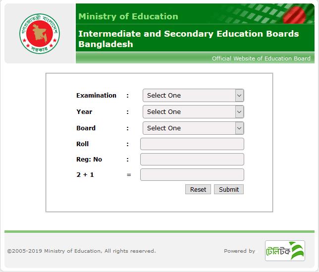 JSC Result Bangladesh