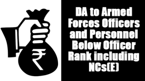 Dearness Allowance to Armed Forces Officers