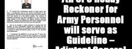 7th CPC Ready Reckoner for Army Personnel will serve as Guideline