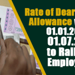 Rate of Dearness Allowance w.e.f. 01.01.2017 & 01.07.2017 to Railway employees