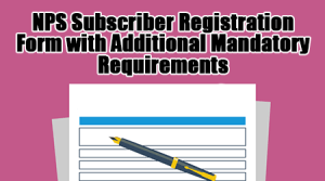 NPS Subscriber Registration Form with Additional Mandatory Requirements