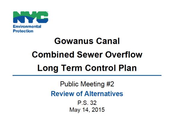 Gowanus Canal CSO LTCP