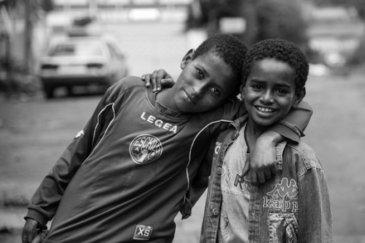 Ethiopian boys playing in the neighborhood - Michael Gowin