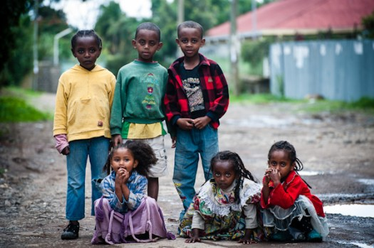 Neighborhood kids in Addis Ababa - © Michael Gowin