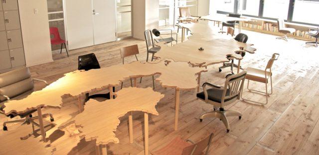 HAPON新宿の日本列島テーブル
