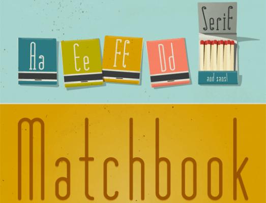 Matchbook Typeface