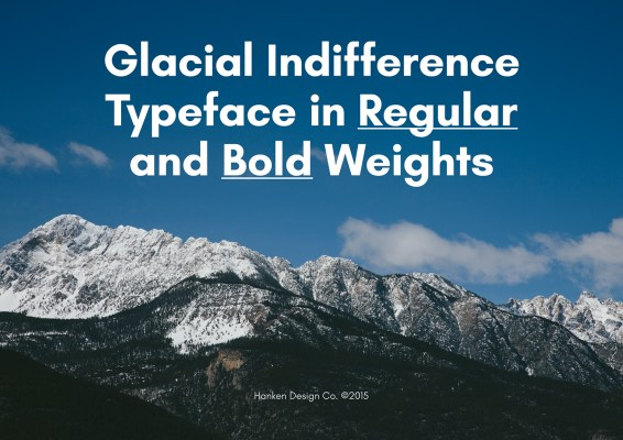 Glacial Indifference