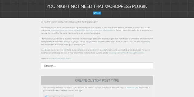 You Might Not Need That WP Plugin