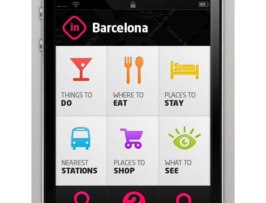 BCN mobile dashboard design
