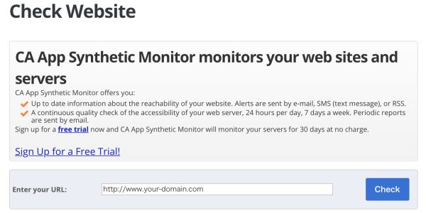 App Synthetic Monitor