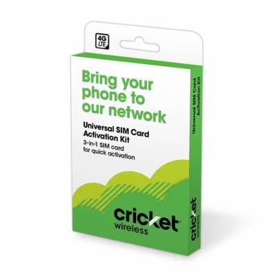 Cricket プリペイドユニバーサルSIMカード