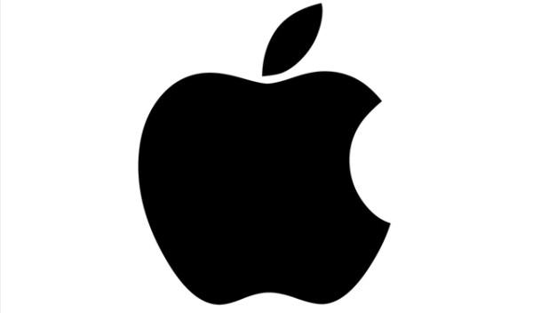 単色のAppleロゴ