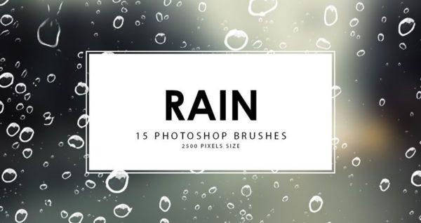 Rain Photoshop Brushes