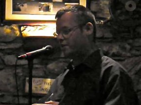 Tomás reading at Poets Express in Bantry in 2010... so long ago!!!