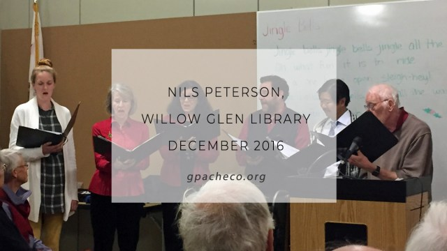 nils peterson, willow glen library, december 2016