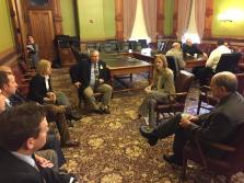 Senator Amy Sinclair speaks with Area Superintendents