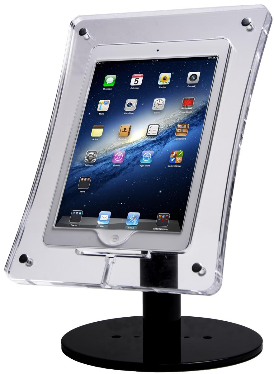 Acrylic Tablet Stand Metal Screw Enclosure