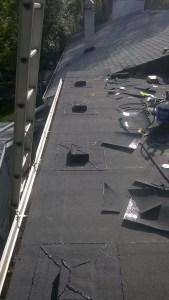 Large flat roof