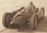 Alberto Ascari at the wheel of a Lancia D50.