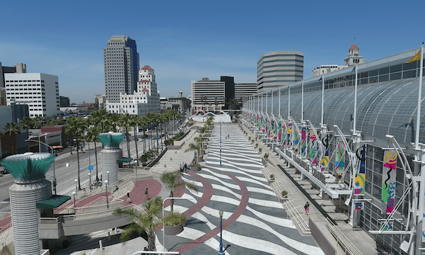 Downtown Long Beach – Move Along Walkway of Long Beach Convention Center #1
