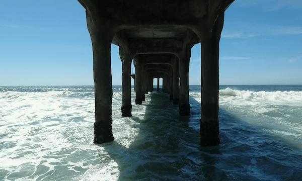 Manhattan Beach – Flying Backwards Under Pier #1