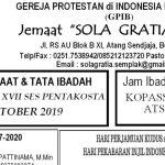 Warta Jemaat Minggu, 06 Oktober 2019