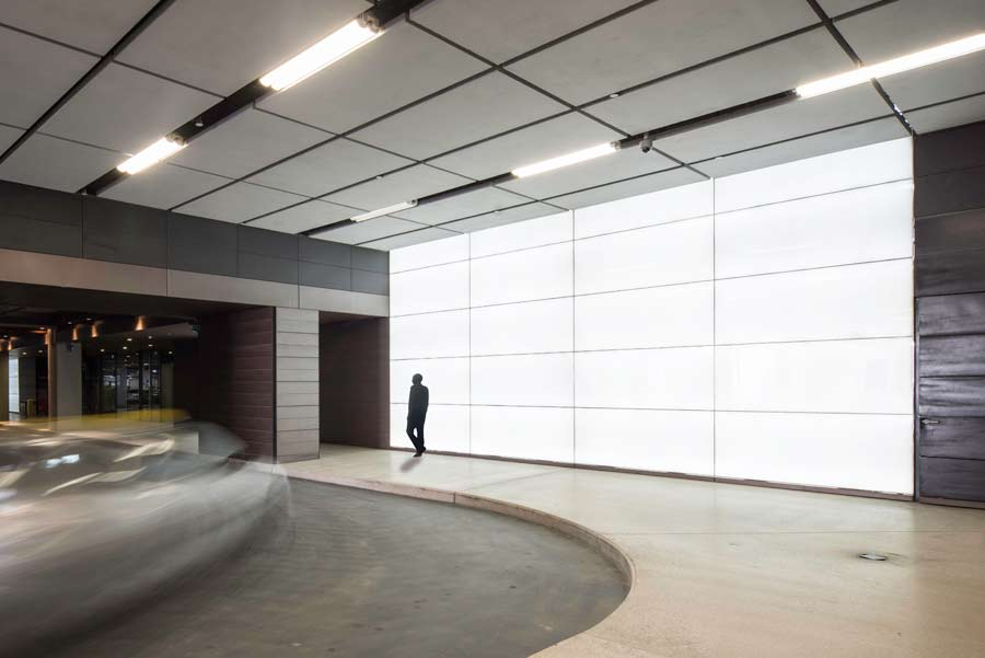 Backlit Recycled Glass Feature Walls Masdar City Gpi