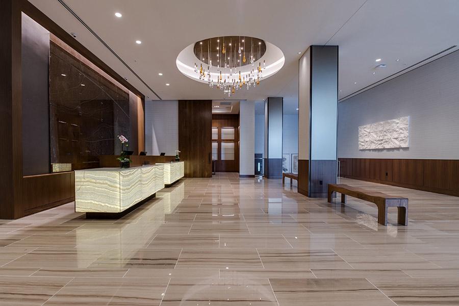 Backlit Honey Onyx Reception Desks Amp Panel GPI Design