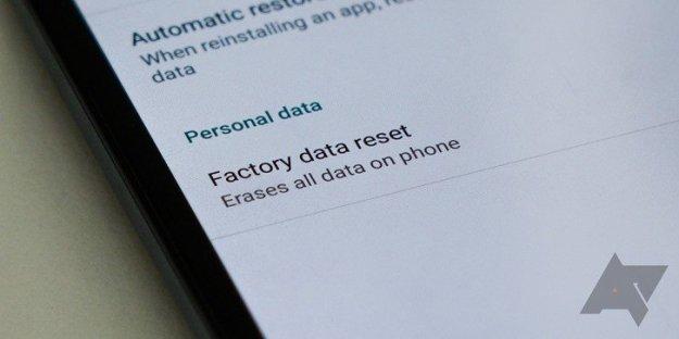 google-factory-reset