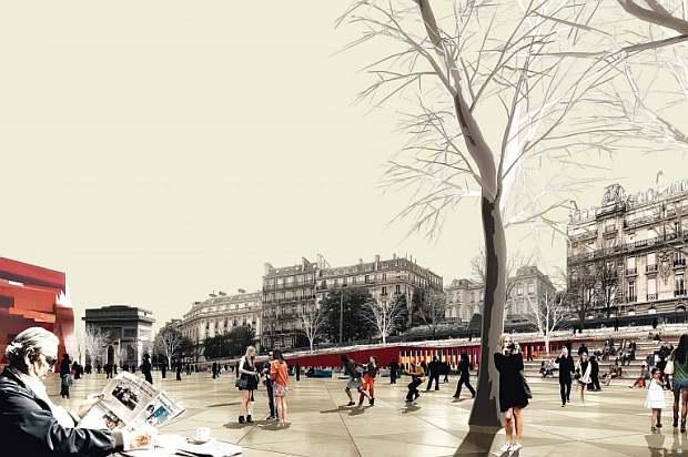 Projet prospectif pour l'avenue Foch (crédits : Harmonic + Masson & associés)