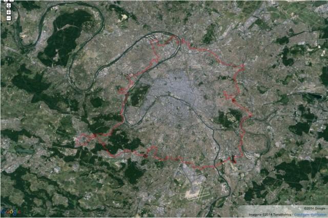 Le tracé (en rouge) du sentier