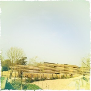 Bâtiments techniques dans la plaine du Sahel-Soudan.