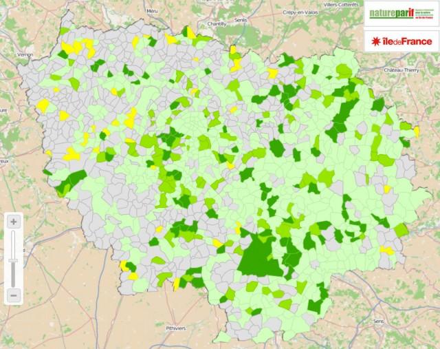 Les communes franciliennes et les pesticides.