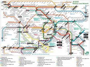 Plan du métro de Tokyo