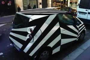La Dazzle car par Yannis Pérez. Crédits : Yannis Pérez / Autolib'