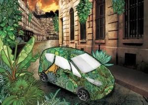 Jungle urbaine. Crédits : Marc RENAUD, Quentin DRON, Jean-Baptiste COLIN / Autolib'