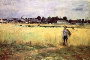"""""""Dans les champs de blé"""" de Berthe Morisot"""