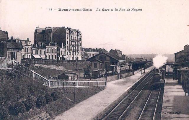 Rosny sous bois gare et rue de Nogent