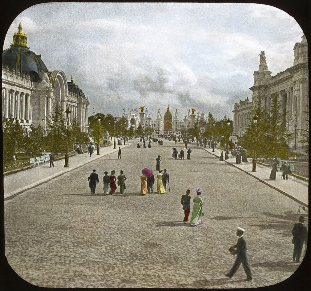 Grand et Petit Palais pendant l'exposition universelle de 1900
