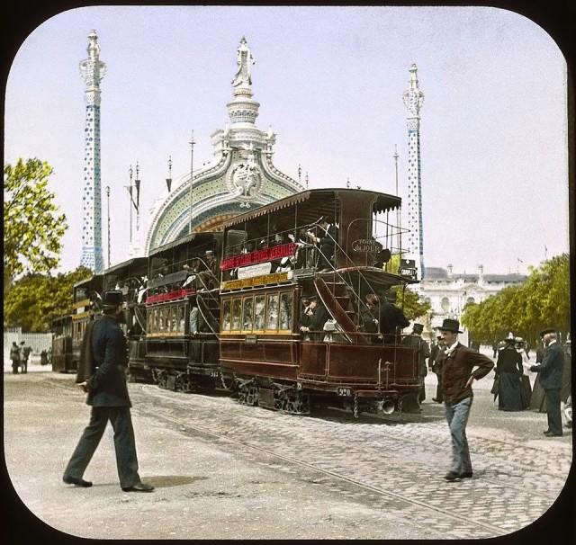 Tramway pendant l'exposition universelle de 1900